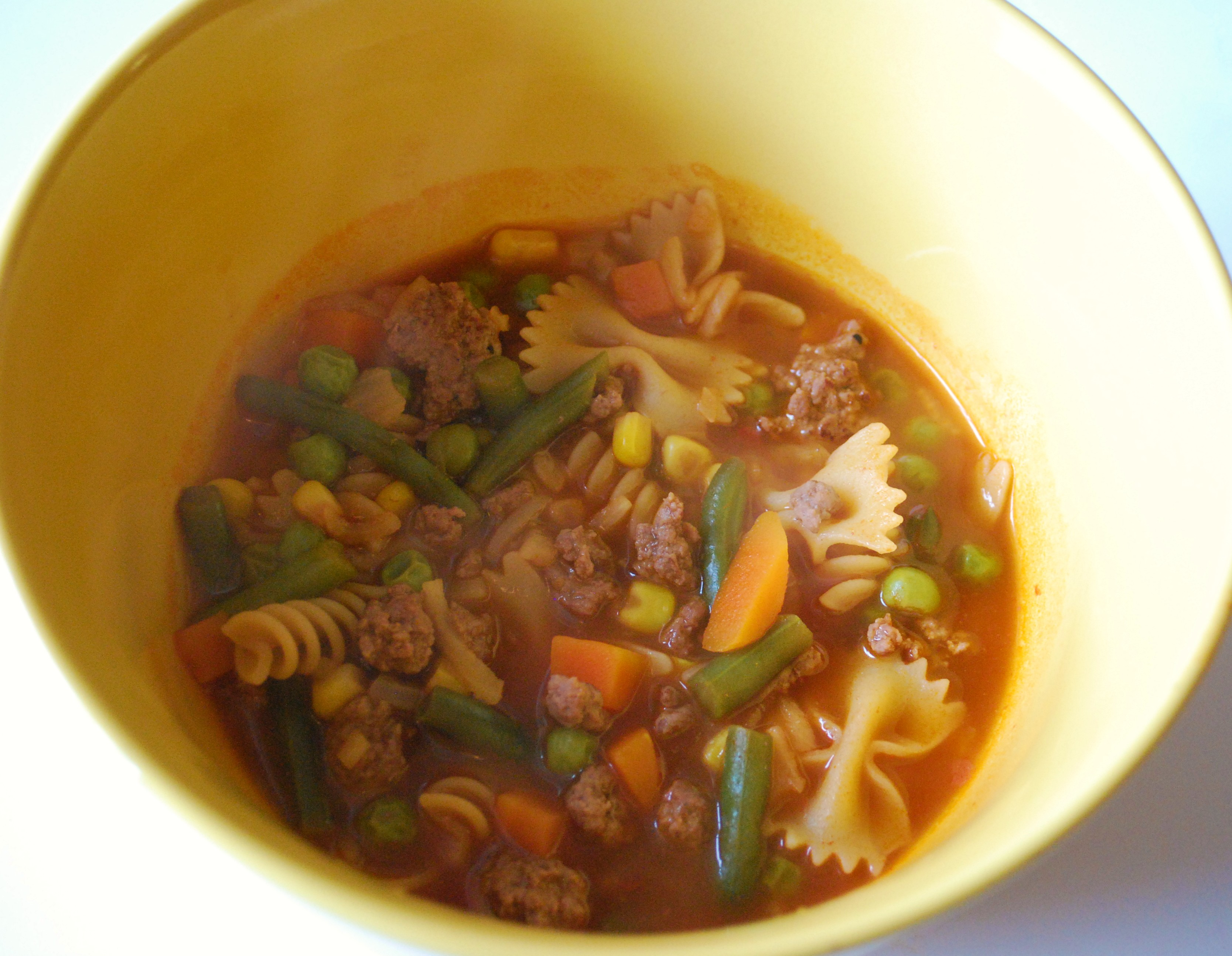 Hamburger Vegetable Soup. | Make Myself at Home