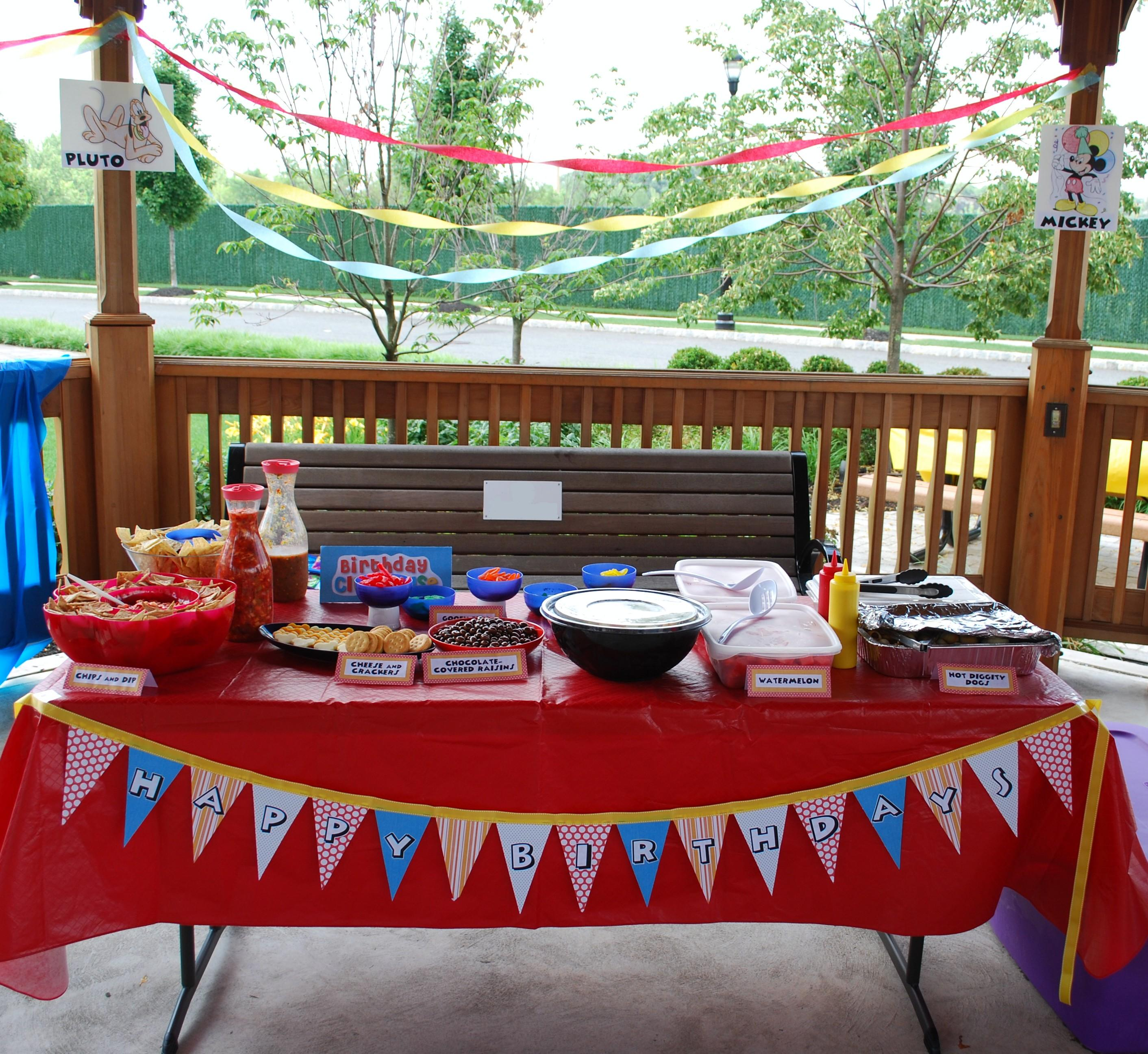How to make a licensed character party look homemade for Party decorations you can make at home