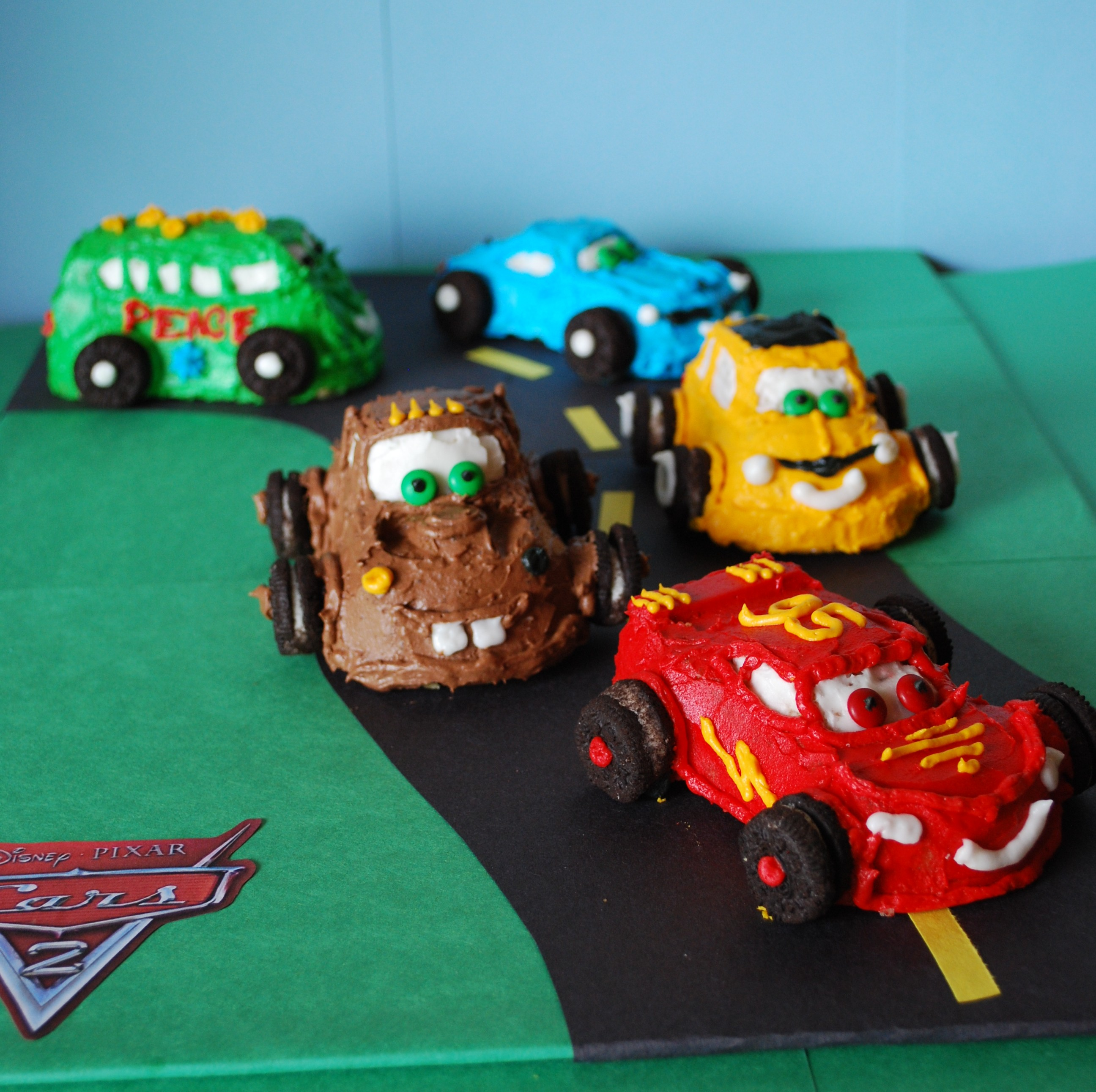 Cars  Cakelets For The Birthday Munchkin Make Myself At Home - Birthday cake cars 2