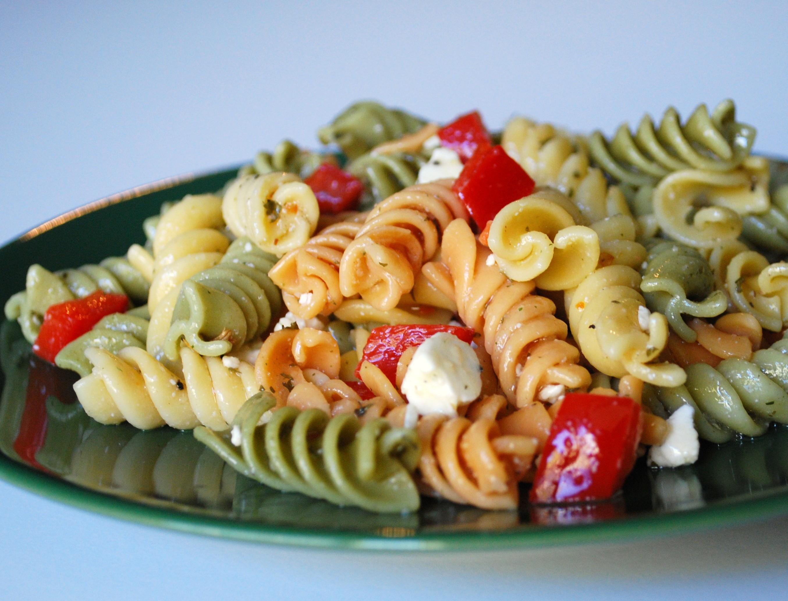 Pasta salad a la you.