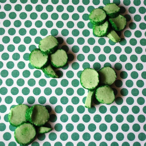 Simple Shamrock Sugar Cookies