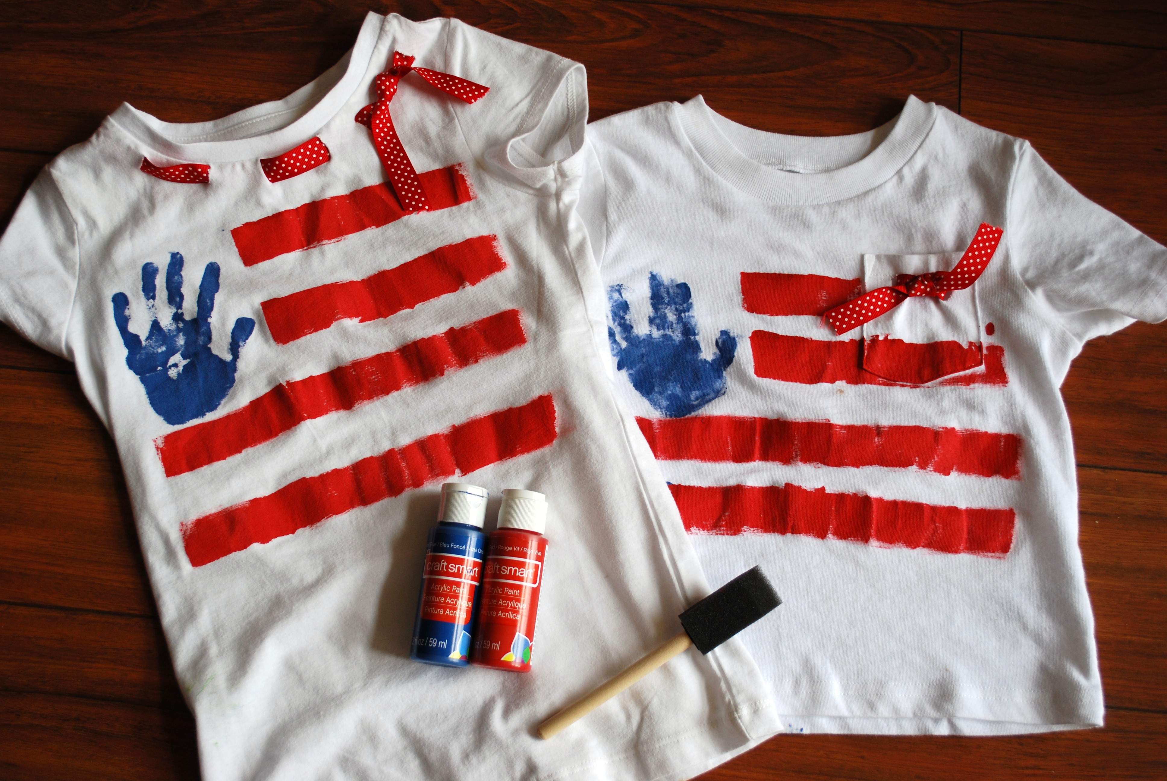 8478fae8 Quick Kid Craft: Patriotic T-shirts. | Make Myself at Home