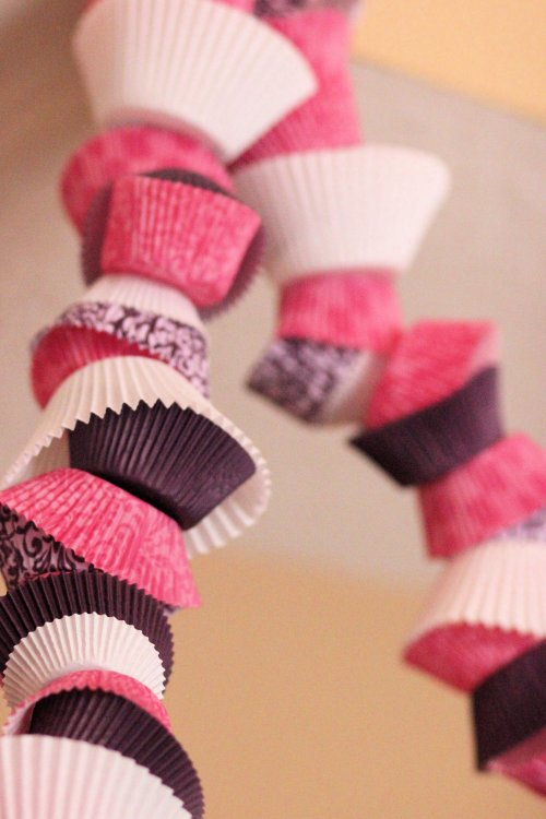 cupcake paper garland