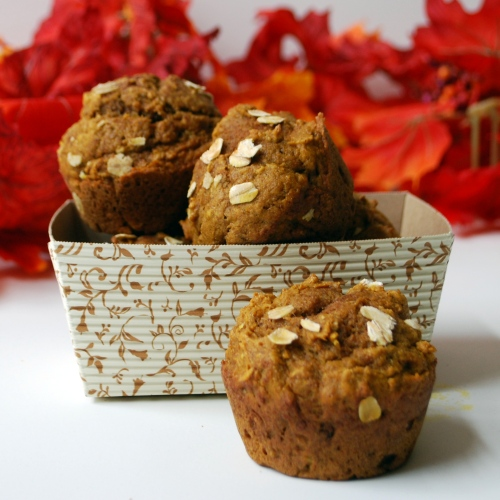 Maple Oat Pumpkin Muffins